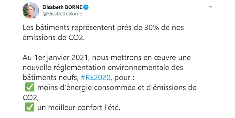 Elisabeth Borne a tweeté